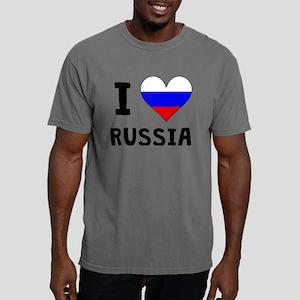 I Heart Russia Mens Comfort Colors Shirt