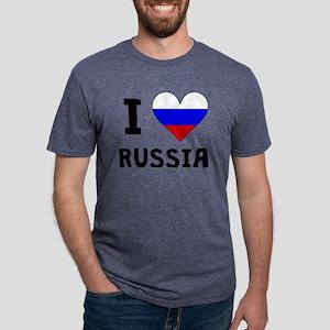 I Heart Russia Mens Tri-blend T-Shirt