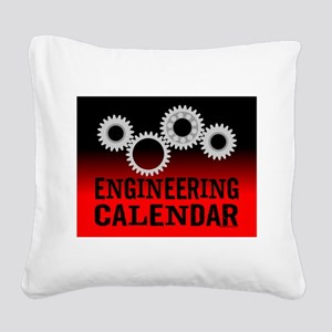Engineers Square Canvas Pillow