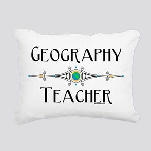 Geography Teacher Rectangular Canvas Pillow