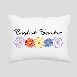 English Teacher Flowers Rectangular Canvas Pillow