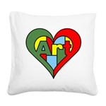 Art Heart Square Canvas Pillow
