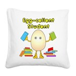 Egg-cellent Student Square Canvas Pillow
