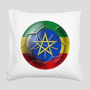 Ethiopia Football Square Canvas Pillow