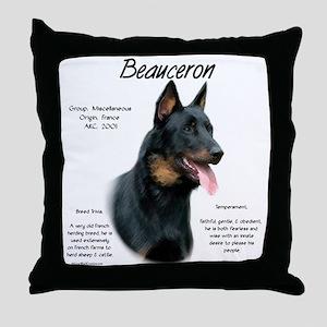 Beauceron Throw Pillow