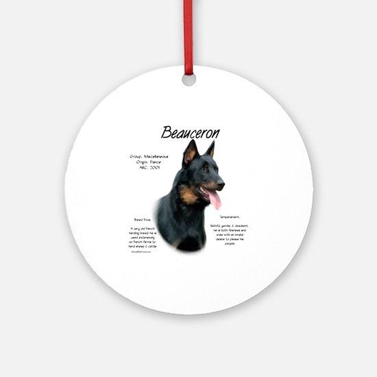 Beauceron Round Ornament