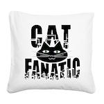 Cat Fanatic Square Canvas Pillow