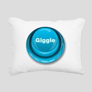 Giggle Button Rectangular Canvas Pillow