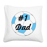 Number 1 Dad Square Canvas Pillow