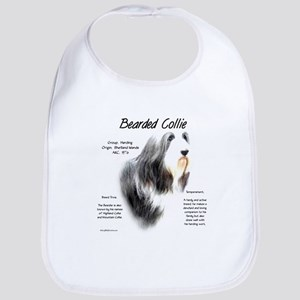 Bearded Collie Cotton Baby Bib