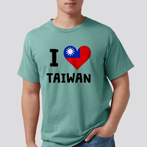 I Heart Taiwan Mens Comfort Colors Shirt