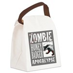 Zombie Honey Badger Canvas Lunch Bag