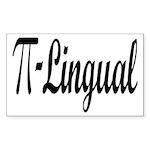 Pi Lingual Funny Math Sticker (Rectangle)