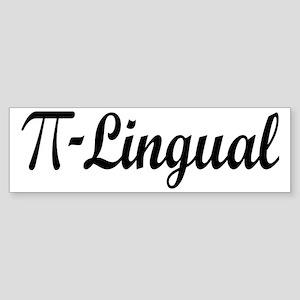 Pi Lingual Funny Math Sticker (Bumper)