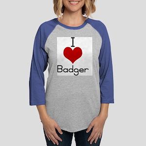 badger.jpg Womens Baseball Tee