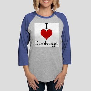 donkeys.jpg Womens Baseball Tee