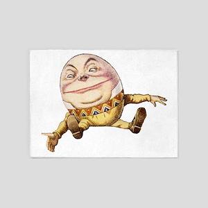 Humpty Dumpty Sat On a Wall 5'x7'Area Rug
