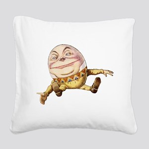 Humpty Dumpty Sat On a Wall Square Canvas Pillow