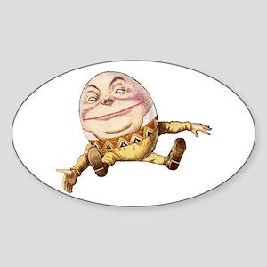 Humpty Dumpty Sat On a Wall Sticker (Oval)