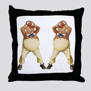 Tweedledee and Tweedledum Throw Pillow