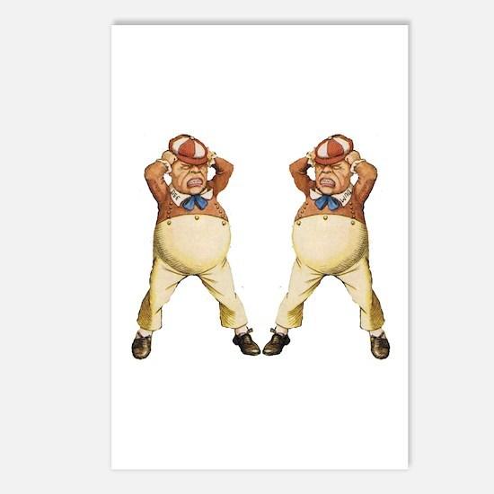 Tweedledee and Tweedledum Postcards (Package of 8)