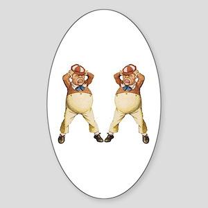 Tweedledee and Tweedledum Sticker (Oval)