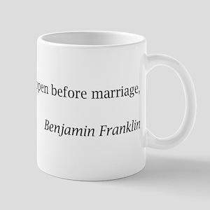 Benjamin Franklin on Marriage Mug