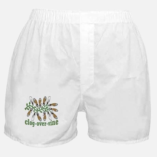 Clog Over Vine Dance Boxer Shorts