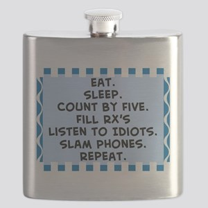 Pharmacist eat sleep blanket Flask