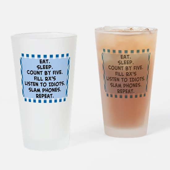 Pharmacist eat sleep blanket.PNG Drinking Glass