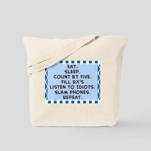 Pharmacist eat sleep blanket Tote Bag