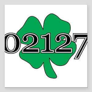 "02127 Southie, Boston Square Car Magnet 3"" x 3"""