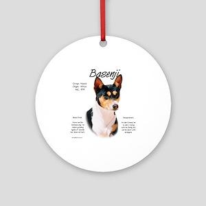 Basenji (tricolor) Round Ornament