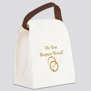 Respect Wood Canvas Lunch Bag