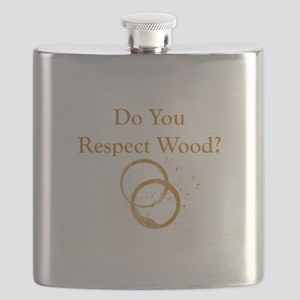 Respect Wood Flask
