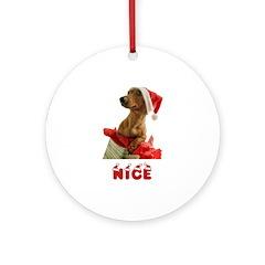 Nice Dachshund Ornament (Round)