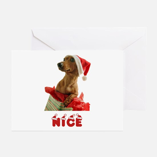 Nice Dachshund Greeting Cards (Pk of 20)
