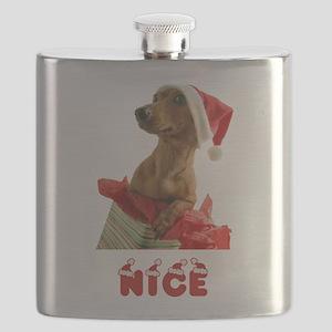 Nice Dachshund Flask