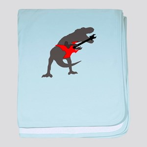 T-rex Playing the Guitar baby blanket