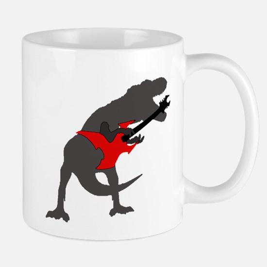 T-rex Playing the Guitar Mug