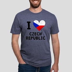 I Heart Czech Republic Mens Tri-blend T-Shirt