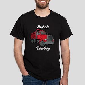 Asphalt Cowboy Truck Driver Dark T-Shirt