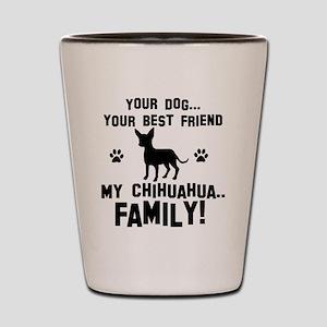Chihuahua dog breed designs Shot Glass