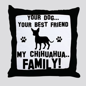 Chihuahua dog breed designs Throw Pillow