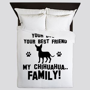 Chihuahua dog breed designs Queen Duvet