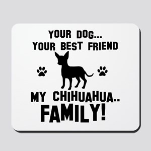 Chihuahua dog breed designs Mousepad
