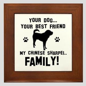 Chinese Shar-Pei dog breed designs Framed Tile