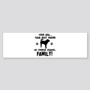 Chinese Shar-Pei dog breed designs Sticker (Bumper