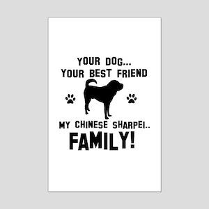 Chinese Shar-Pei dog breed designs Mini Poster Pri