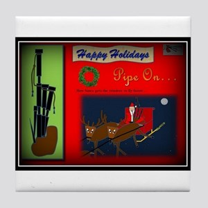 Happy Holidays (Vignette Border) Tile Coaster
